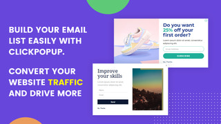 build your email list easy with clickpopup.