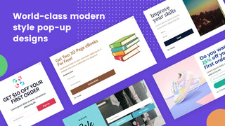 Different style pop-up design