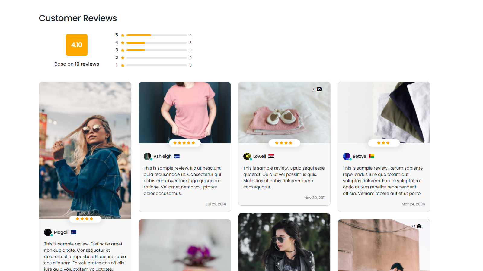 Showcase stunning product reviews across your store