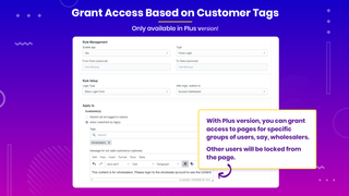 Grant access based on customer tags