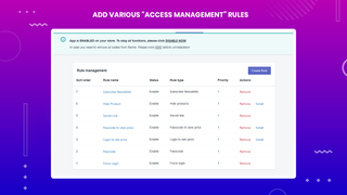 "You can use many ""Access Management"" rules to benefit your site!"