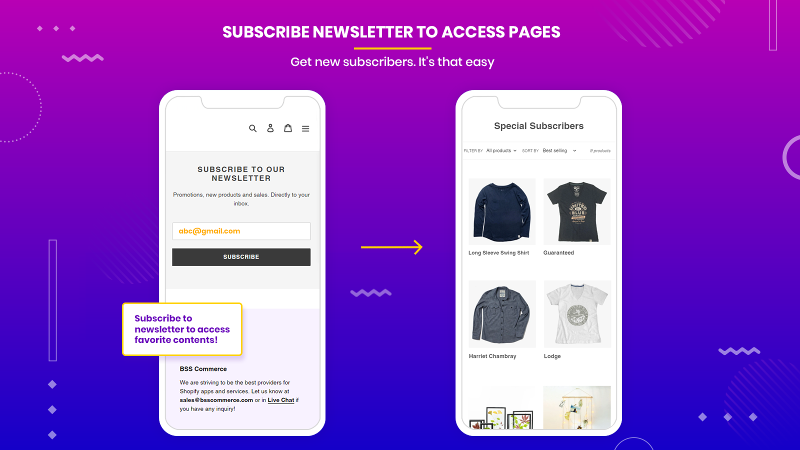 Get subscribers to Subscribe to Access their favorite content!