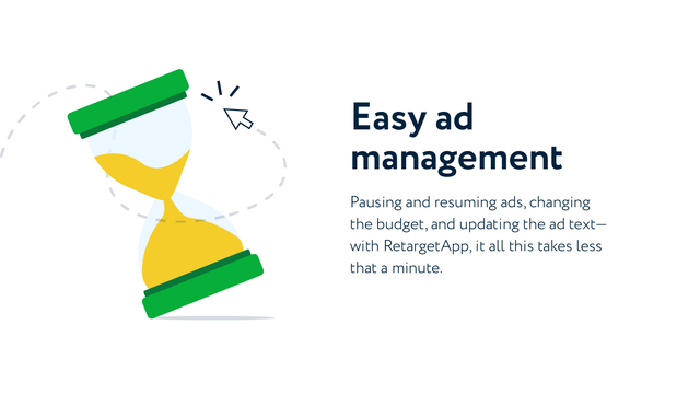 RetargetApp ads are easy to manage