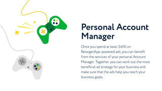 RetargetApp provides you with a Personal Account Manager