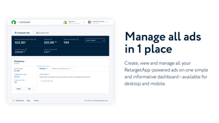 RetargetApp lets you manage all ads on one simple dashboard
