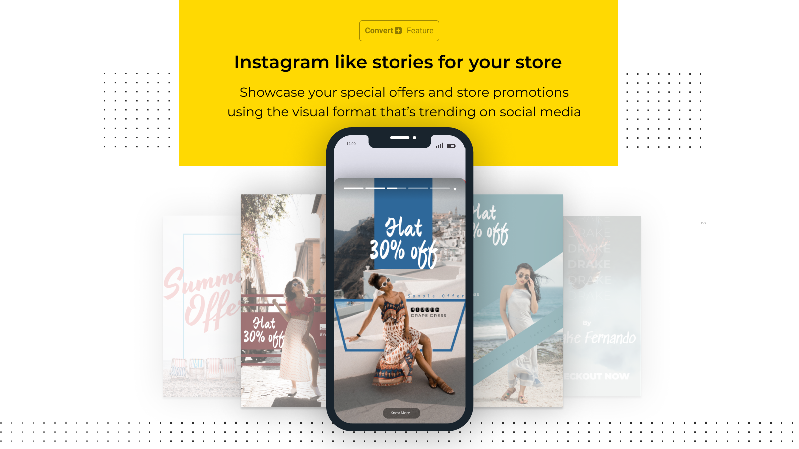 Instagram Story like format for your special offers (+ $4/month)