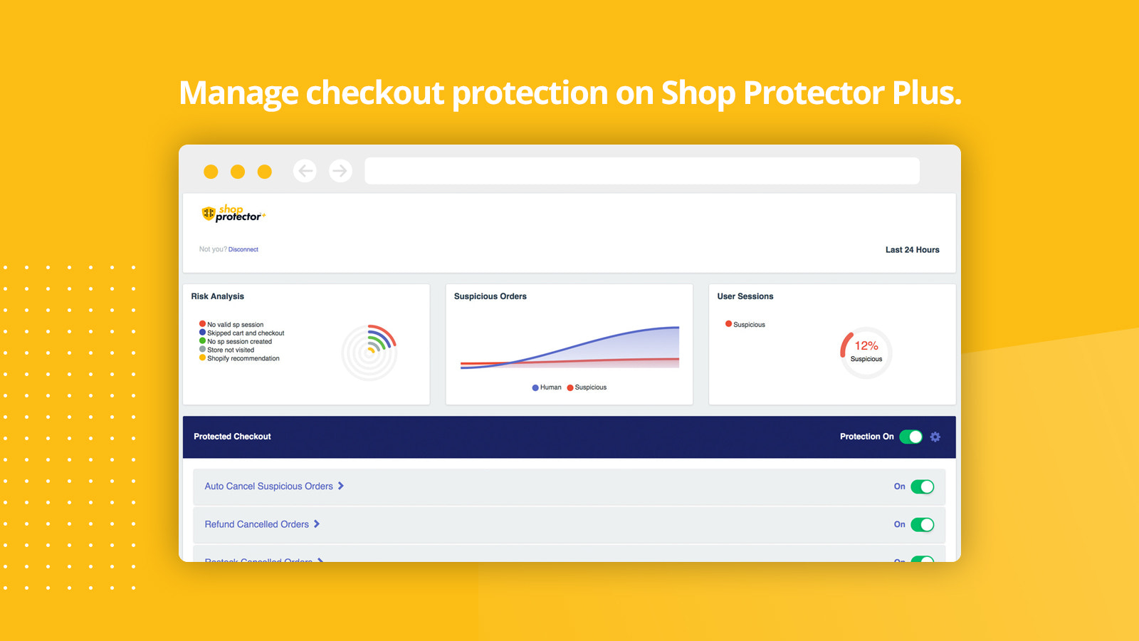 Manage your checkout protection and bot protection on SP Plus.
