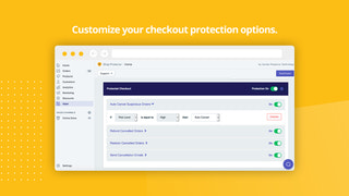 Customize your checkout protection options on SP Plus.