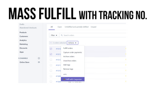 Fulfill your orders - automatically apply tracking