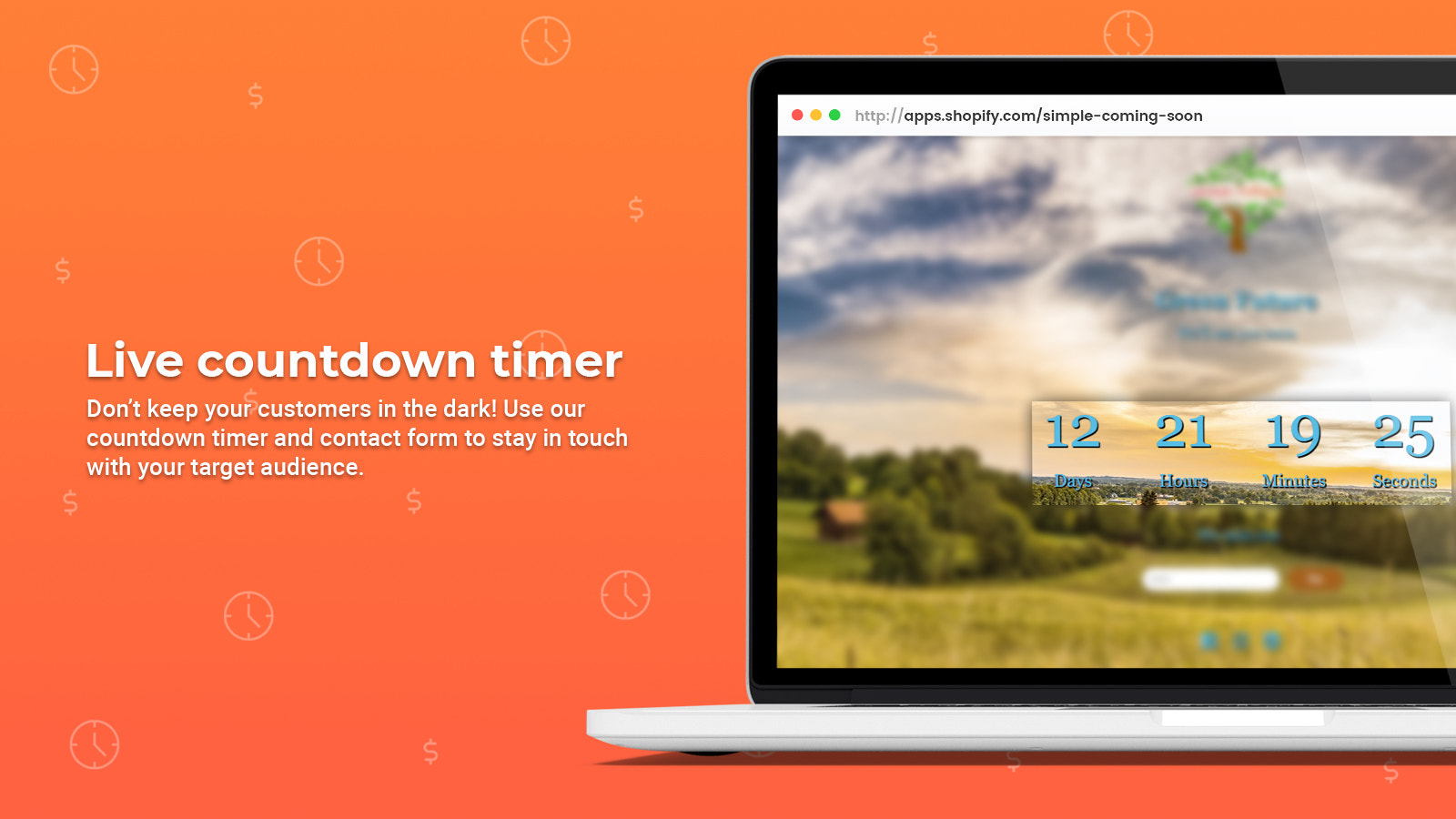 Live countdown timer
