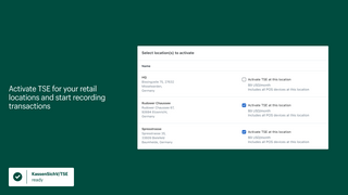 Activate TSE for your retail locations and start recording