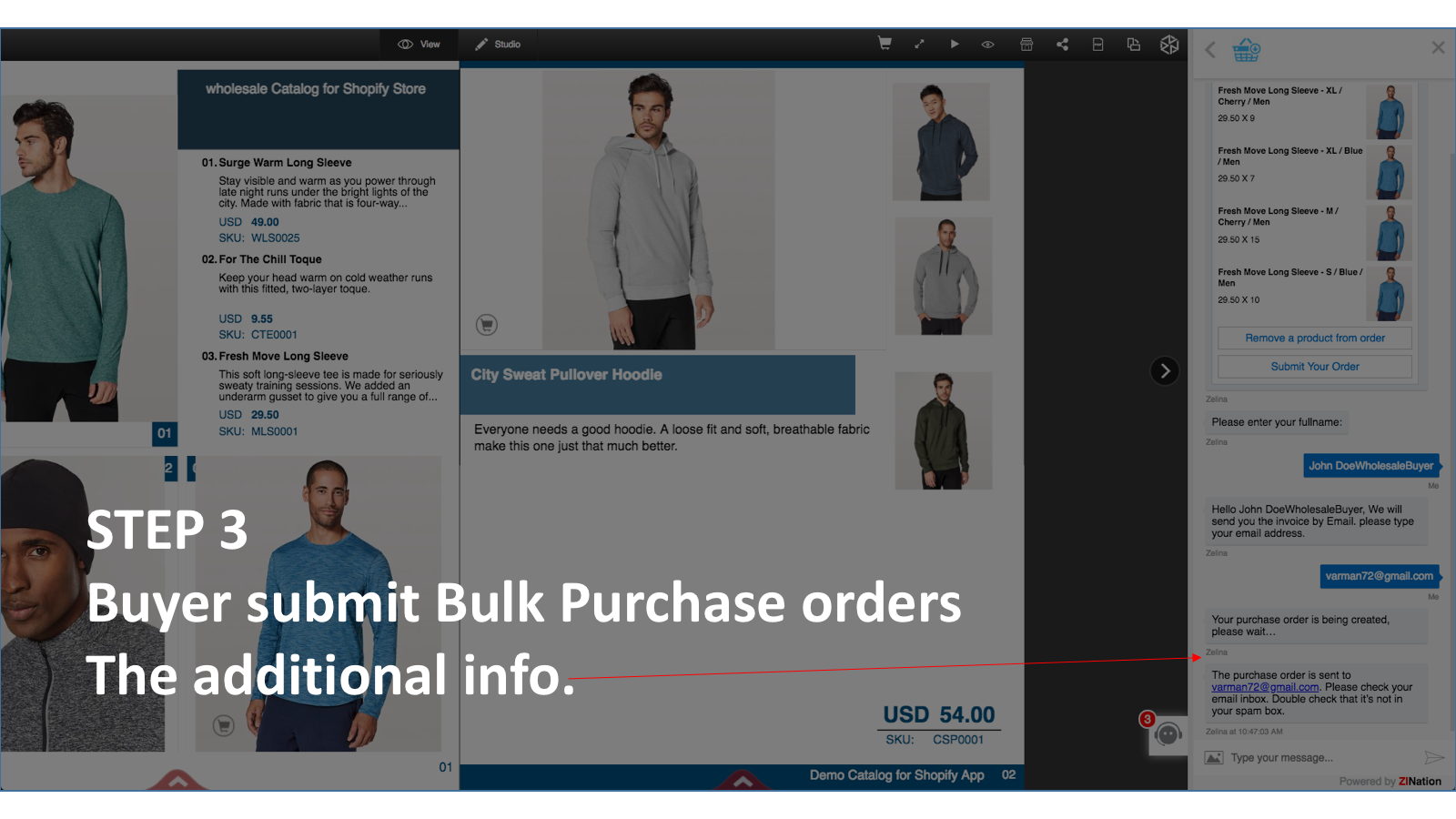 Step 3 Buyer submit bulk purchase order