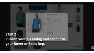 Step 2 Publish and share to Buyer