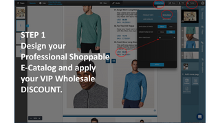 Step 1 Create wholesale catalog with price discount