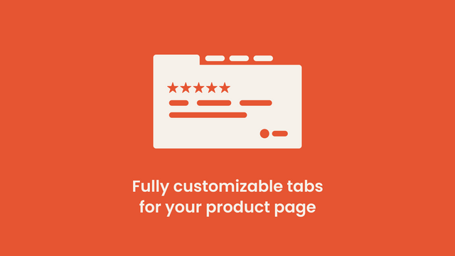 Fully customizable tabs for your product page