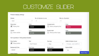 Zooomy Product Slider Back end 1