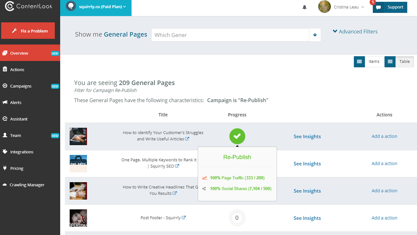 Analytics for each page in your shop