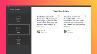 Choose a template to arrange text and author details