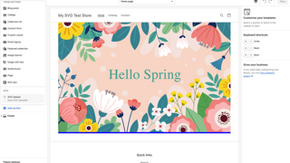 Multi-layered SVG file that says Hello Spring