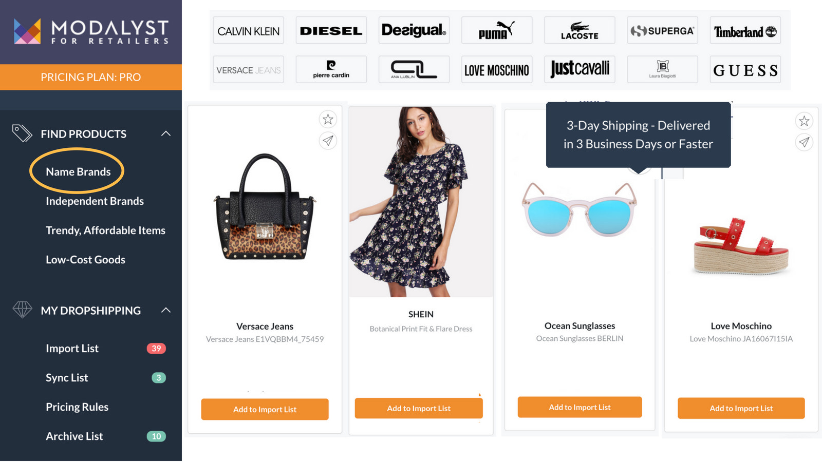 Modalyst Dropshipping Suppliers