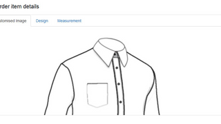 Showing ordered tailor shirt in the app backend