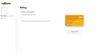 Inffiliate billing page
