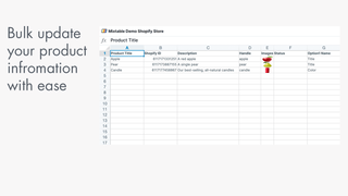 Bulk update your product information with ease