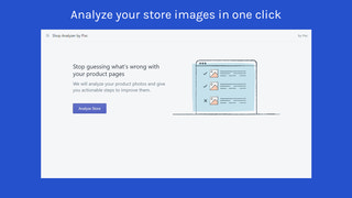 one-click button to analyze store images