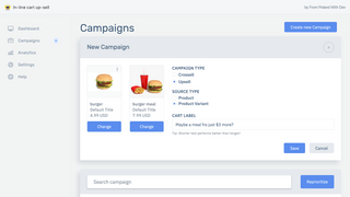 Setting up campaign