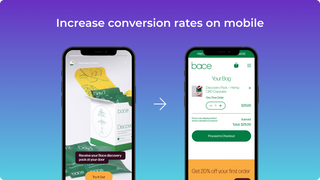 Increase conversion rates on mobile