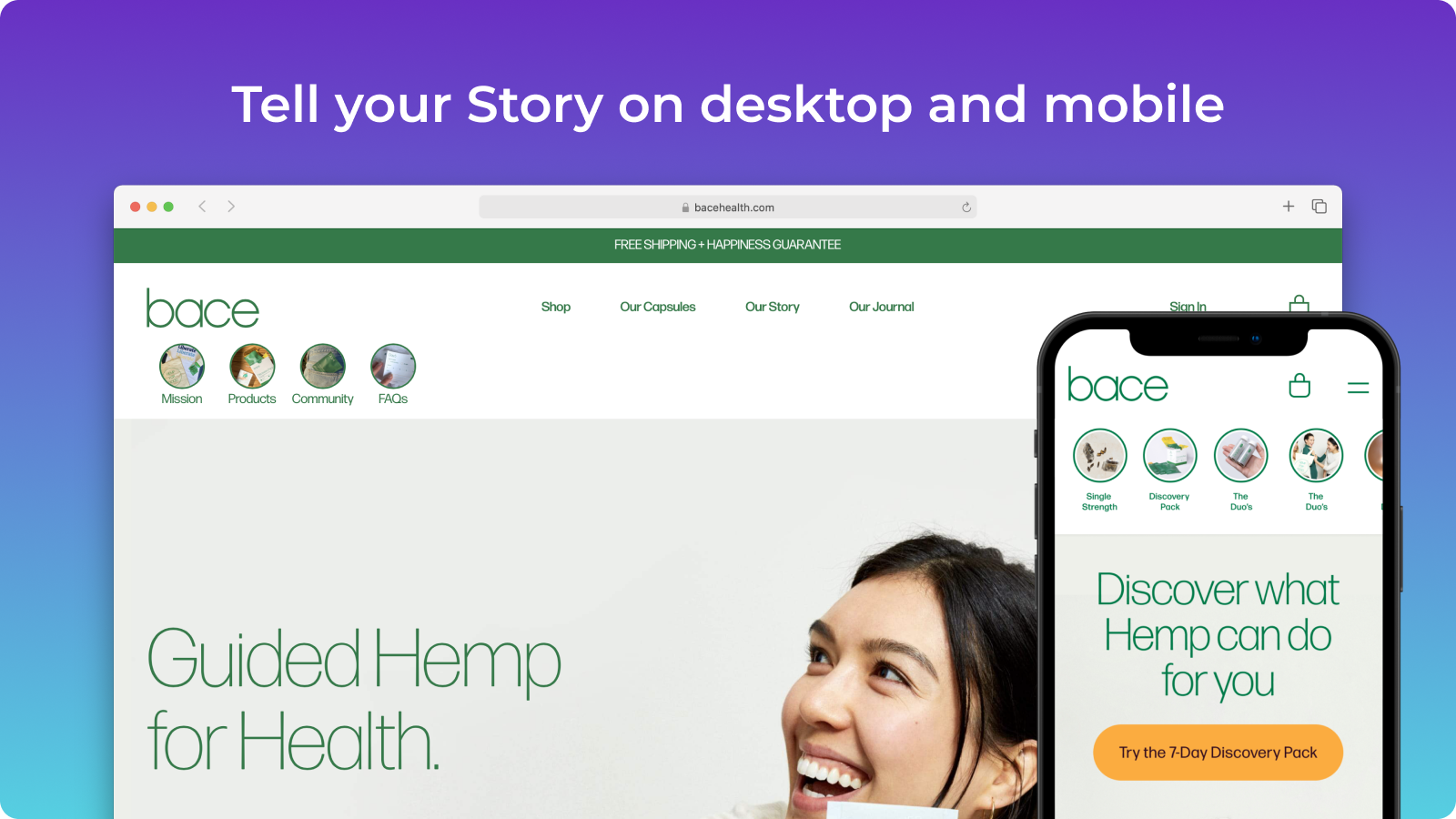 Tell your Story on desktop and mobile