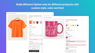 Build different Option sets for different products