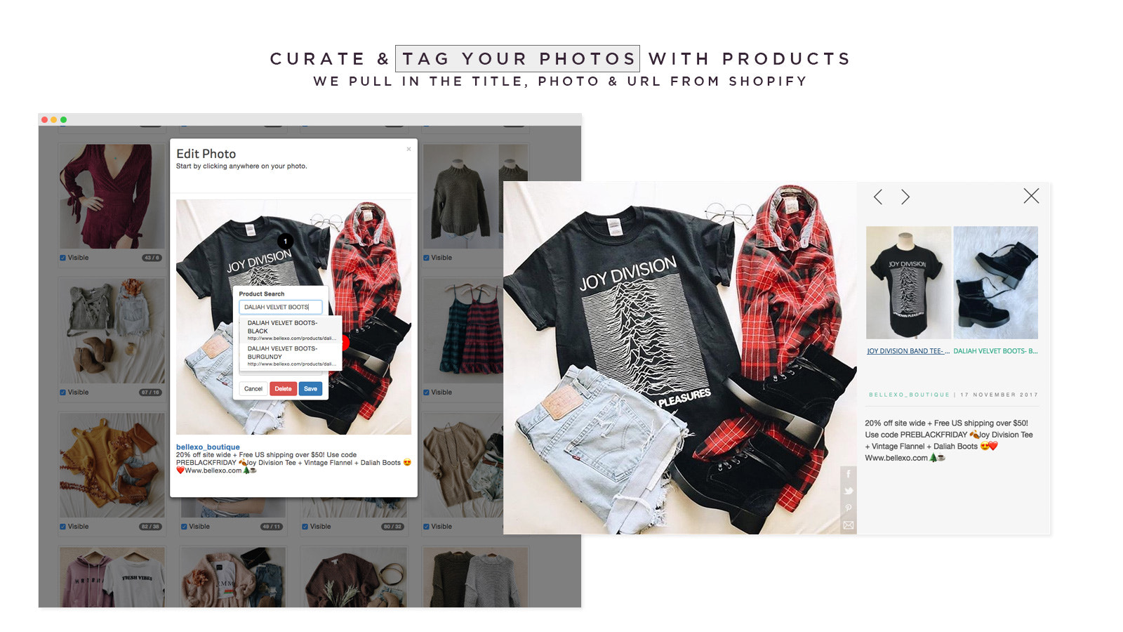 Curate & Tag Photos With Products - It's Easy