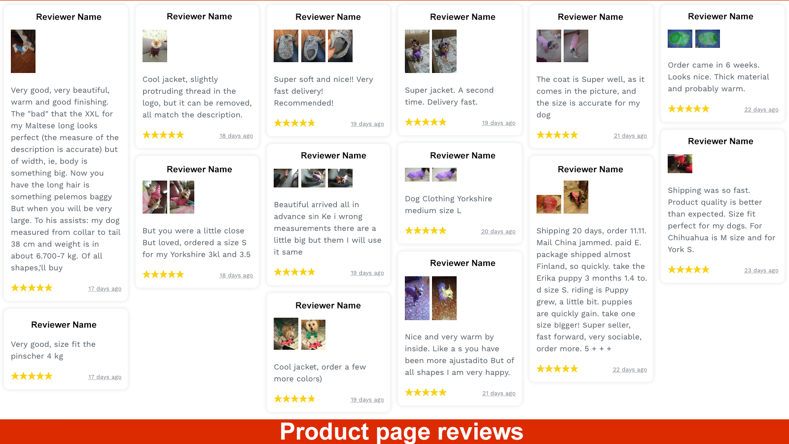 Product Page: Reviews