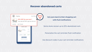 Recover abandoned carts with push notifications