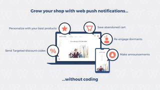 Grow your shop with web push notifications