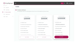 Buy your credits and get benefits based on your level