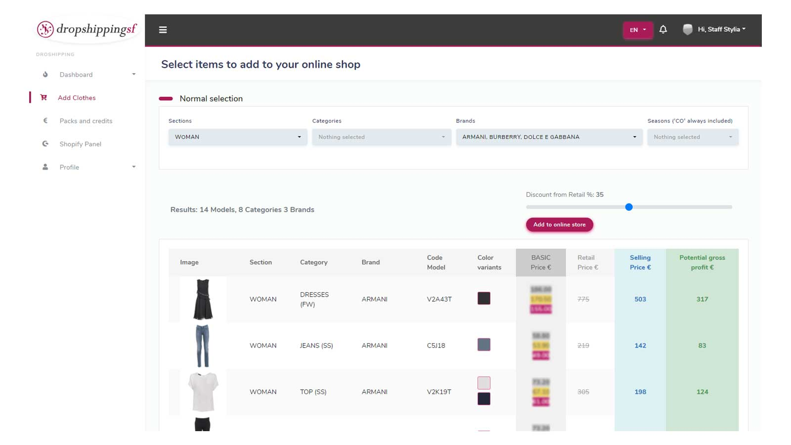 Select the best brands for your store
