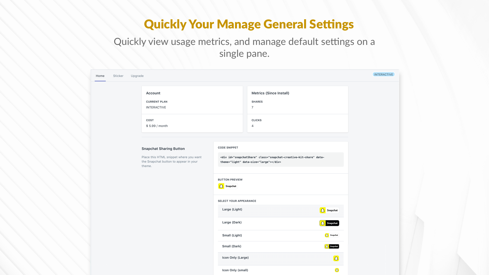 Manage all your default settings on a single pane