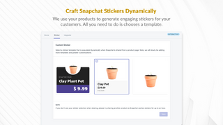 Select a template to generate products