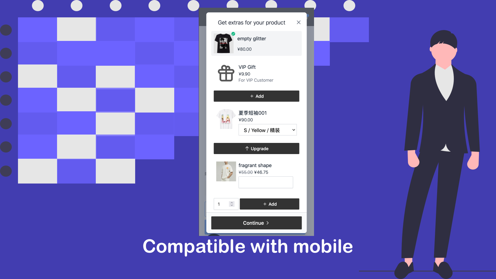 Compatible with mobile