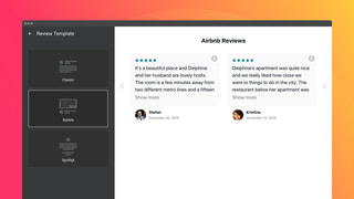 Select a template to arrange text and author details