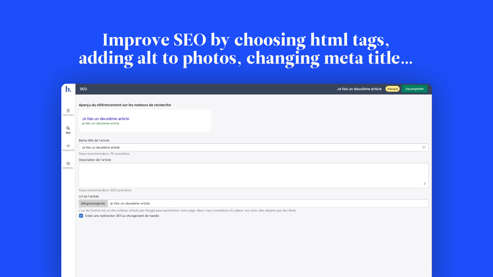 Improve SEO by choosing the proper HTML tag