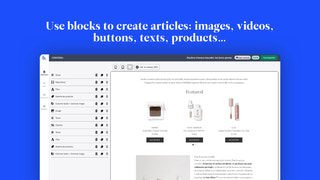 Use blocks to create articles