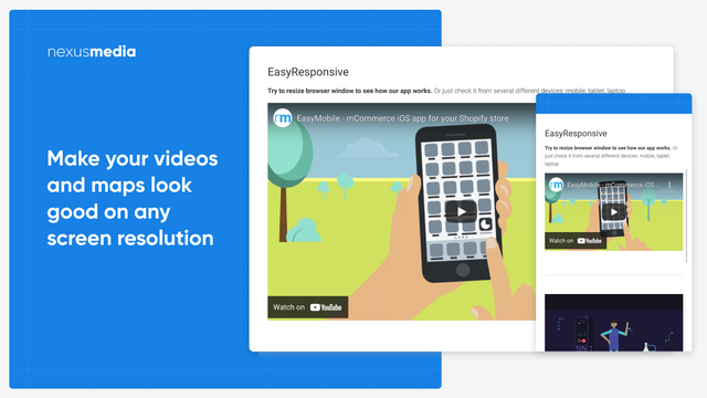 Make your videos and maps look good on any screen resolution