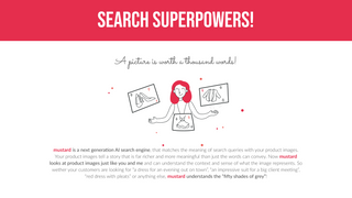 mustard gives your store search superpowers!