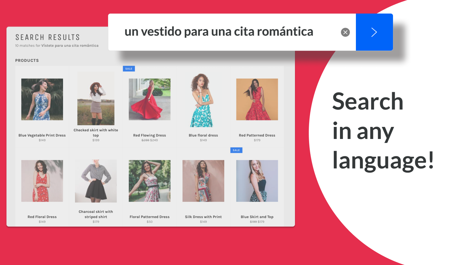 Customers can search in their language, not yours.