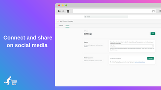Connect to your social media profiles