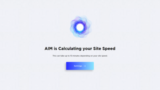 AIM is Calculating Site Speed