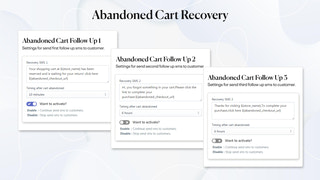 abandoned cart recovery sms with multiple occurrences